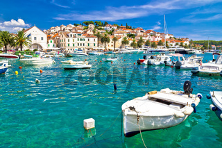 Turquoise waterfront of Hvar island