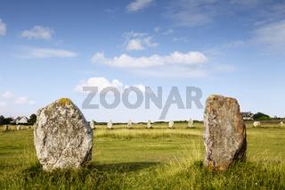 Standing Stones, Lagatjar, Camaret-sur-Mer, Brittany, France