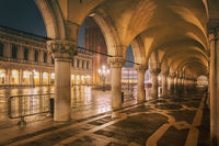 Night arcade, San Marco Square, Venice