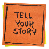 Tell your story inspirational note