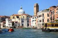 Canal Grande and S. Geremia Church , Venice