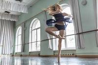 Dancer in ballet hall