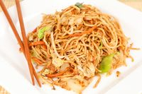 fried asian noodles