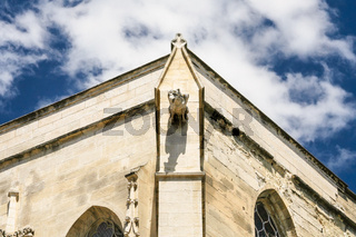 wall decoration of cathedral in Avignon