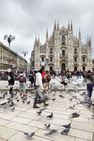 Square in front of Milan Cathedral