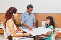 Startup Team bei der Projekt Planung