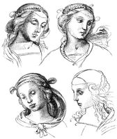 Sketches of the Italian painter and architect Raphael