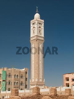 Exterior view of Aljama' Mosque, Seiyun, Hadhramaut, Yemen