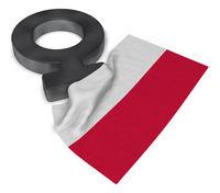 symbol für weiblich und flagge von polen - 3d illustration