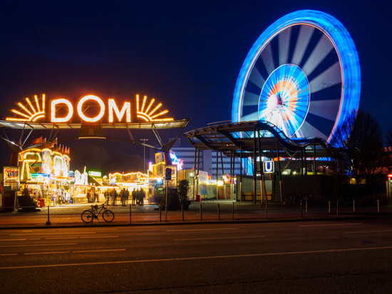 Hamburg, Germany - April 04, 2016: Hamburger Dom the biggest public festival in Northern Germany.