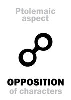 Astrology: OPPOSITION (aspect)