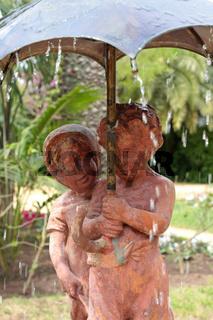 Skulpturen in Cadiz. Andalusien