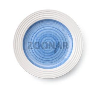 Blue empty plate