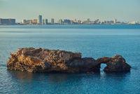 Coastline of La Manga. Spain