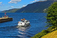 Mouth of the Caledonian Canal into Loch Ness, Fort Augustus, Scotland, Great Britain