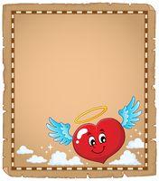 Valentine heart topic parchment 3