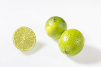 Lime in front of white background