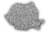 Karte von Rumänien auf Textur - Textured map of Romania