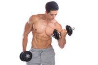 Bodybuilding Bodybuilder Muskeln Body Building Training Bizeps Hantel Freisteller
