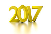 golden happy new year 2017