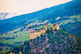 Saben Abbey on high cliff near Klausen view