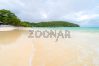 Abstract blurred background White sand beach