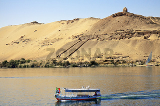 Egypt Aswan Boat Crossing The Nile