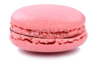 Erdbeer Macaron Macaroon Keks Nachtisch Dessert aus Frankreich Freisteller