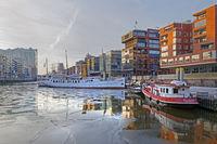 Traditional harbor at Sandtor harbor, Sandtor wharf Hafencity, Hamburg, Germany, Europe