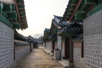 historic korean architecture in gyeongbokgung palace