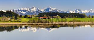 Panorama Landschaft am Forggensee in Bayern