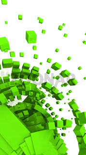 Fliegende Würfel Grün