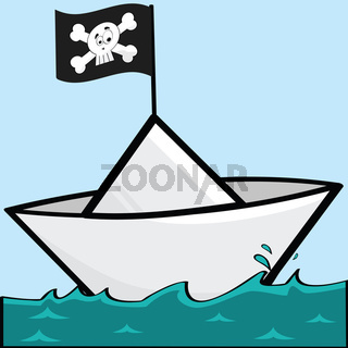 Pirate paper boat