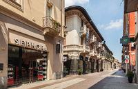 Via Corso Roma in Allesandria. Italy
