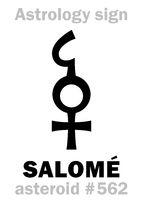 Astrology: asteroid SALOMÉ