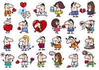 valentines people set