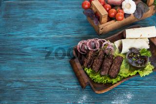 Grilled lula kebab