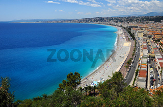 Coastline of Nica, France