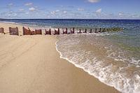 alte Stahlbuhnen am Strand am Ellenbogen, List, Sylt, nordfriesi