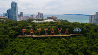 Aerial view of Pattaya City sign