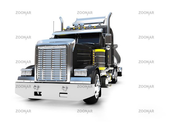 isolated big car on a white background