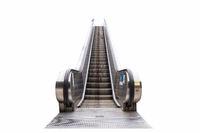 outdoor escalator isolated