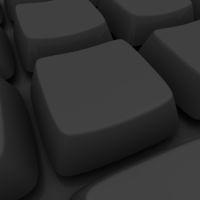 Blank black key in a keyboard