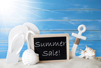Sunny Card With Text Summer Sale