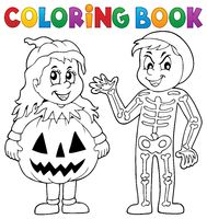 Coloring book Halloween costumes theme 1 - picture illustration.