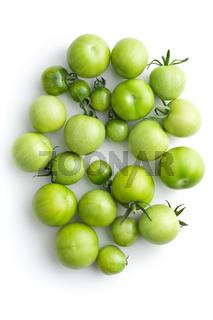 Unripe green tomatoes.