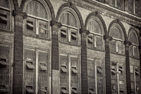 windows of old power plant