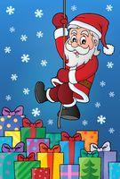 Climbing Santa Claus theme image 9