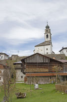 Sauris di sotto with the Church of the Holy Oswald