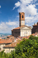 The Church in the small town of Sala-Monferrato, Piemonte. Italy